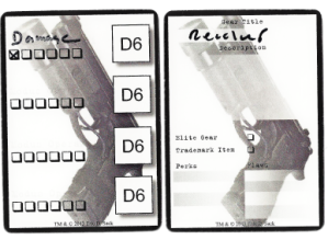 Eric sack deniable Asset power of 12 gear gun cards